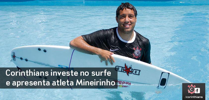 Adriano de Souza no anúncio da contratação do Corinthians.