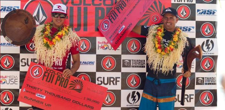 Gabriel Medina e Kelly no Volcom Fiji  Pro