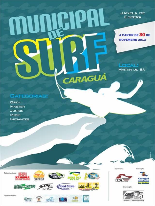 Municipal de Surf em Caraguá