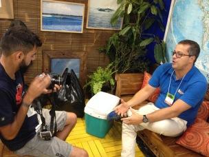 Nivaldo Oliveira, da Nivana Surf Trips em entrevista para o Surfista Paulistano, com o videomaker Fernando Pereira