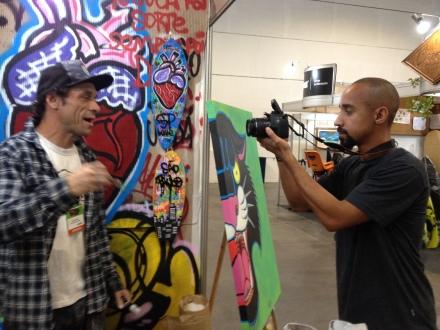 Fabio Polesi em entrevista para o Surfista Paulistano, com o videomaker Newton Santos