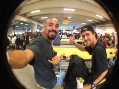videomaker Newton Santos, com João Carlos Godoy, editor do Surfista Paulistano