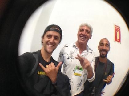 João Carlos Godoy, editor do Surfista Paulistano, fotógrafo Sebastian Rojas e o videomaker Newton Santos